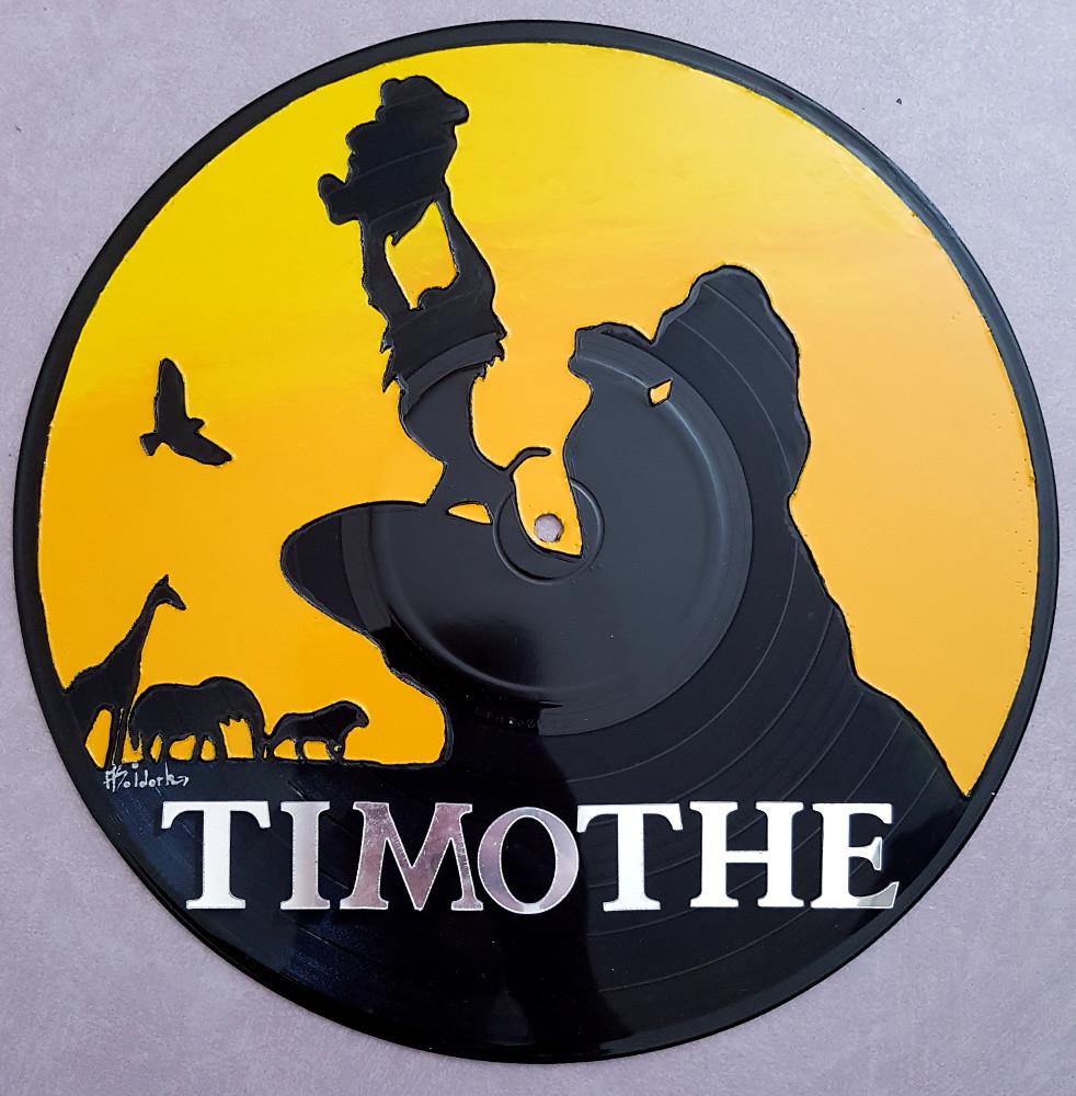 1249 b horloge ou plaque de porte avec prenom sur vinyle peint a la main roi lion simba. Black Bedroom Furniture Sets. Home Design Ideas