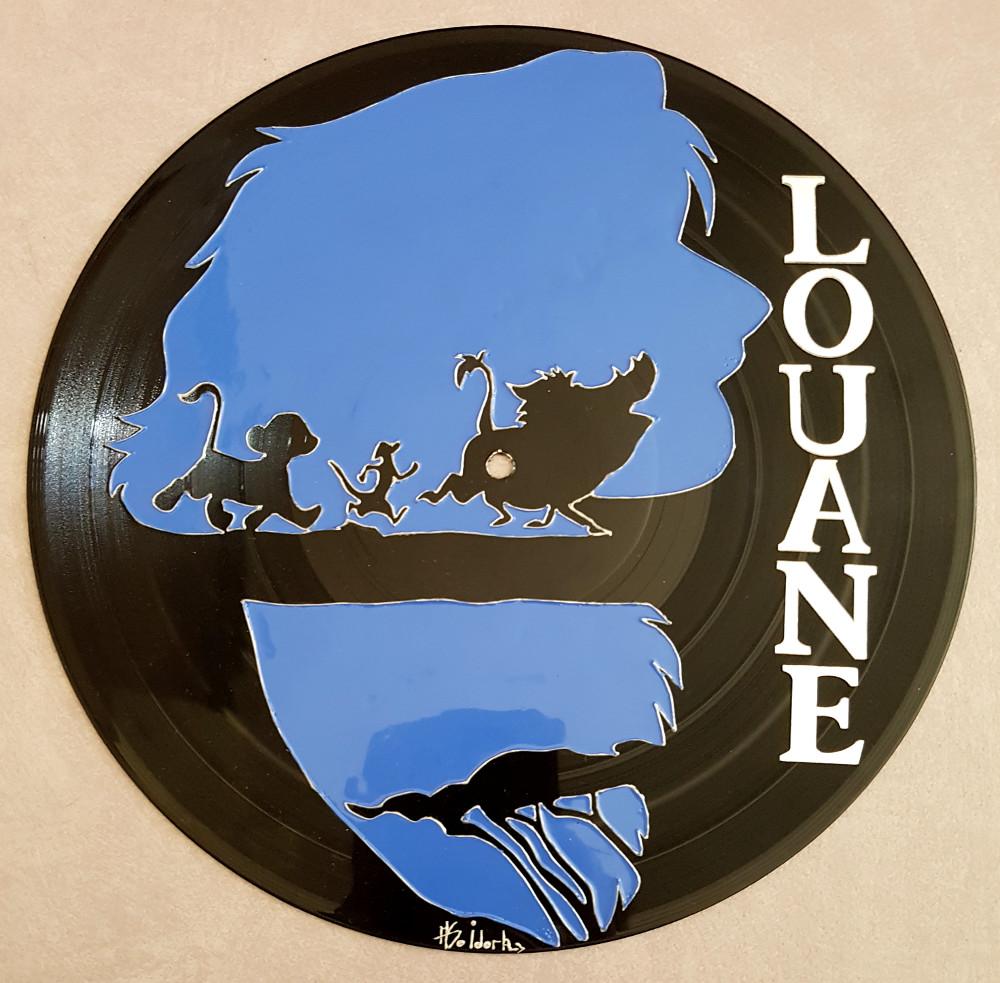 1250 b horloge ou plaque de porte avec prenom sur vinyle peint a la main roi lion simba. Black Bedroom Furniture Sets. Home Design Ideas