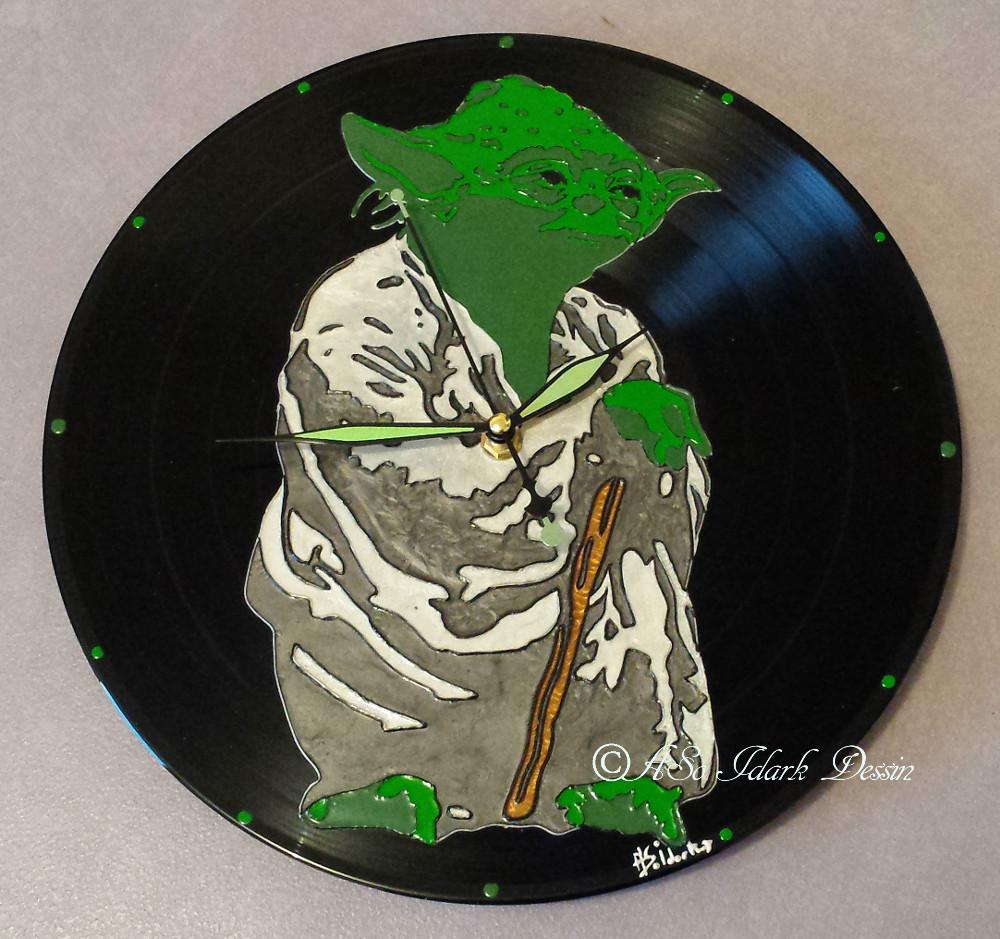 1191 Horloge Vinyle Yoda Star Wars Personnalise Offrir Cadeau Unique