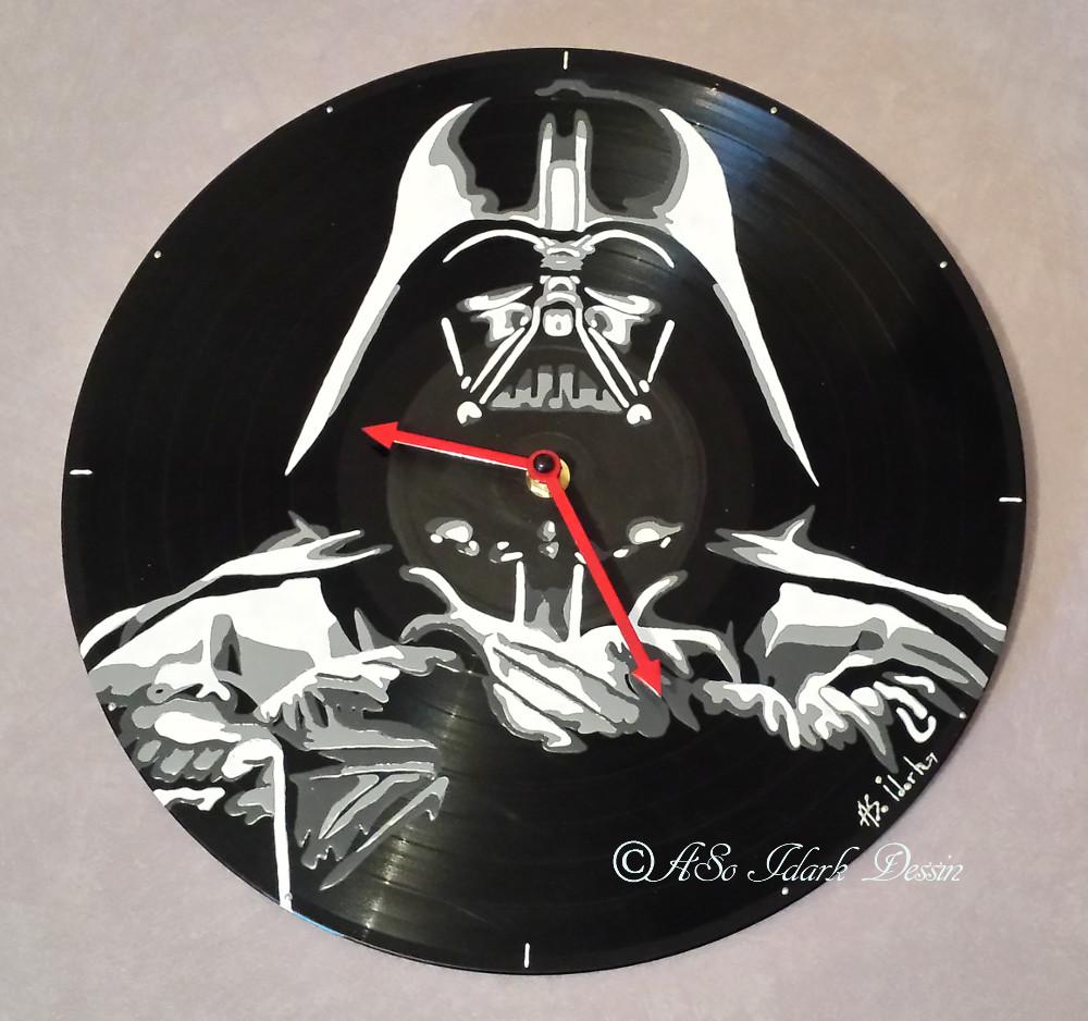 1192 Horloge Vinyle Dark Vador Star Wars Personnalisé Offrir