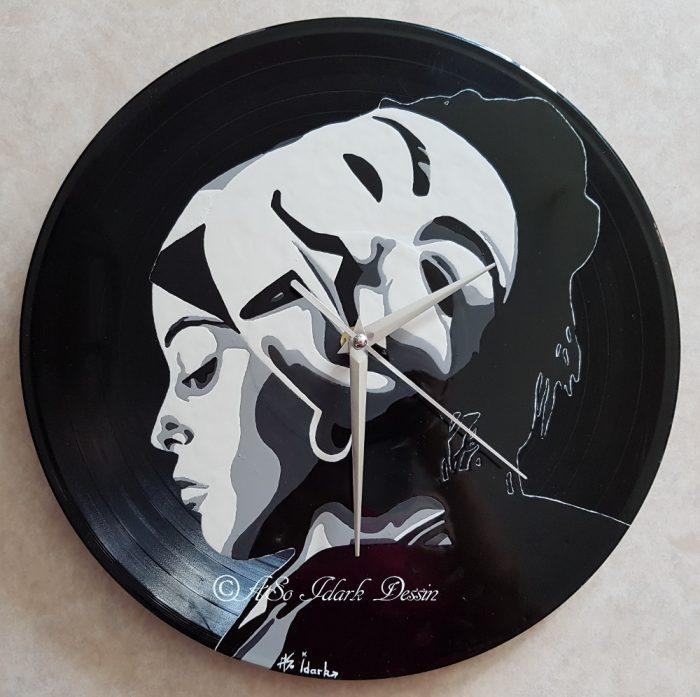 Horloges sur vinyles / Petites boites Porte clés